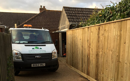 Hedge removal by Oakwood Fencing